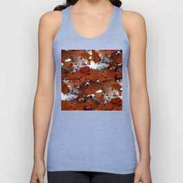 Branches in burgundy and bronze - Seamless fall leaf pattern Unisex Tank Top