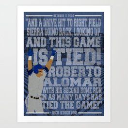 """""""And this game is tied!"""" Art Print"""