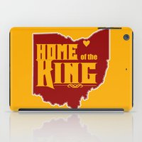 lebron iPad Cases featuring Home of the King (Yellow) by Denise Zavagno