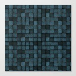 Wood Blocks-Blue Canvas Print