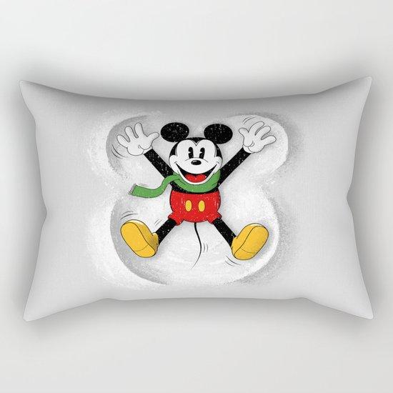 Snow Mickey Rectangular Pillow
