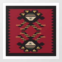 American Native Pattern No. 33 Art Print