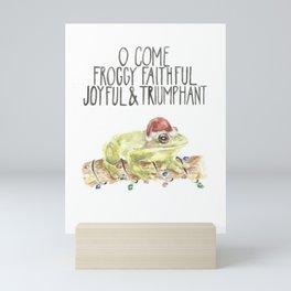 Misheard Christmas Lyrics: Froggy Faithful Mini Art Print