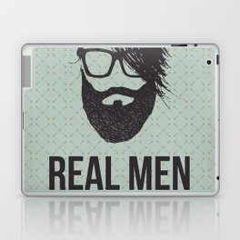 Real men go to real barbers Laptop & iPad Skin