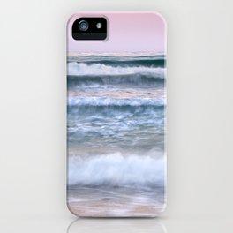 Sea waves. Summer sunset iPhone Case