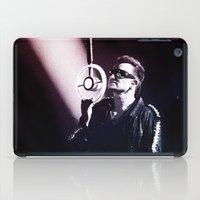 u2 iPad Cases featuring U2 / Bono 4 by JR van Kampen
