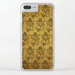 Vintage Ganesh print Clear iPhone Case