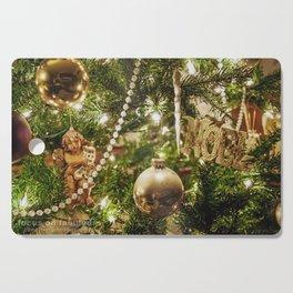 Golden Noel Cutting Board