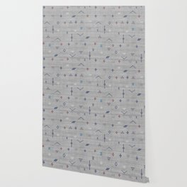 Cactus Silk Pattern in Grey Wallpaper