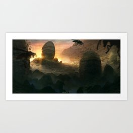 Nest of the mountain wasps Art Print
