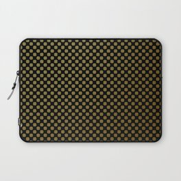 Black and gold dots pattern Laptop Sleeve