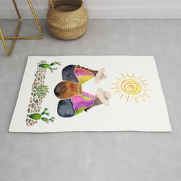 Colourful South American memories Rug