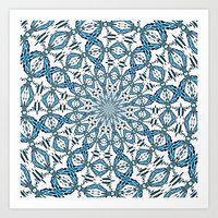 snowflake Art Prints featuring Snowflake by Stay Inspired