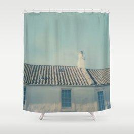 polaroid lovers ~ Scottish houses Shower Curtain