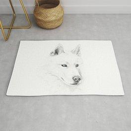 Saber :: A Siberian Husky Rug
