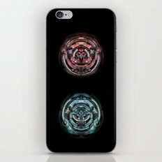 The caterpillar machinery red and cyan brothers iPhone & iPod Skin