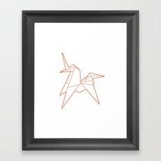 Origami Unicorn Framed Art Print