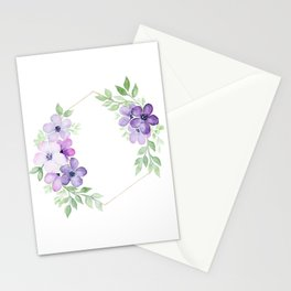 Meraki Hexagon Floral Wreath Stationery Cards