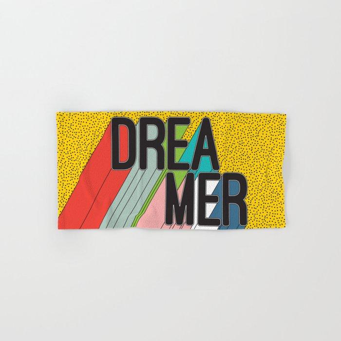Dreamer Typography Color Poster Dream Imagine Hand & Bath Towel