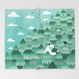 Tree Hugger (Spring & Summer version) Throw Blanket