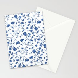 Blue China on White Stationery Cards