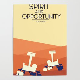 spirit and opportunity space rovers Poster