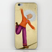 dancing iPhone & iPod Skins featuring Dancing by Nadia Engelhard