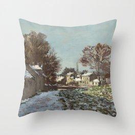 Snow at Argenteuil Throw Pillow