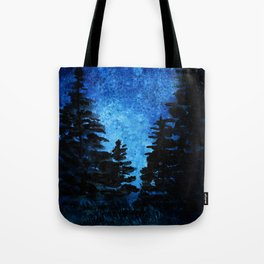 Blue Sky - Evergreen Trees Tote Bag