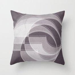 Spacial Orbiting Spiral in Aubergine Tones Throw Pillow
