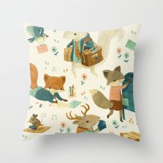 Critter Post Throw Pillow