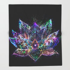 Lotus Flower Glow Throw Blanket