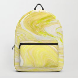Cute Yellow Marble Design Backpack