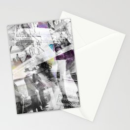 Newspaper collage Stationery Cards