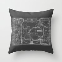 playstation Throw Pillows featuring PlayStation One  by Georg Bodenstein
