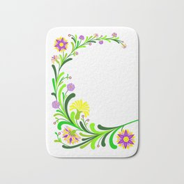 Abstract floral decoration Bath Mat