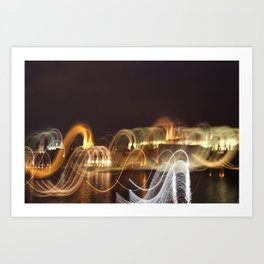 Prague in Lights Art Print