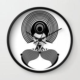 Dark Homonyms V Wall Clock