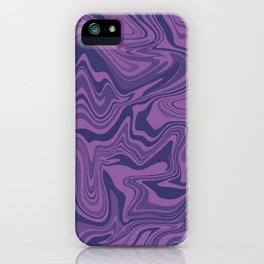 Two-toned purple Agate iPhone Case