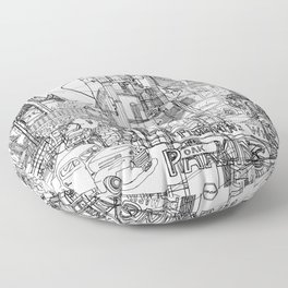 San Francisco! (B&W) Floor Pillow