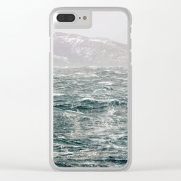 The Ocean in Winter Clear iPhone Case