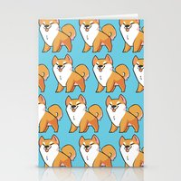 shiba inu Stationery Cards featuring Shiba Inu by ParaPara