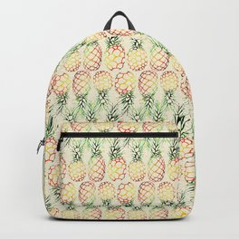 Burlap Pineapples Backpack