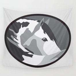 Paint Horse in Grey Wall Tapestry