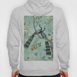 A Teal of Two Birds Chinoiserie Hoody