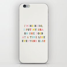 No Hero iPhone & iPod Skin
