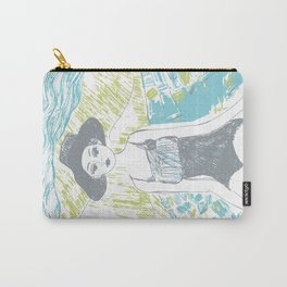 Woman on the beach 2 Carry-All Pouch