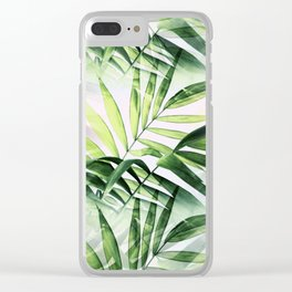 Palm Abstract Clear iPhone Case