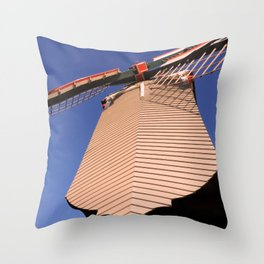 1745 Windmill sundown geometrics Throw Pillow
