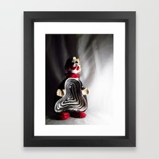 Death Spiral Ashtray Clown Framed Art Print